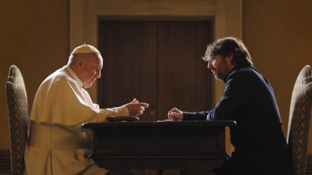 El Papa Francisco en la entrevista con Jordi Evole, para un canal de televisión de España
