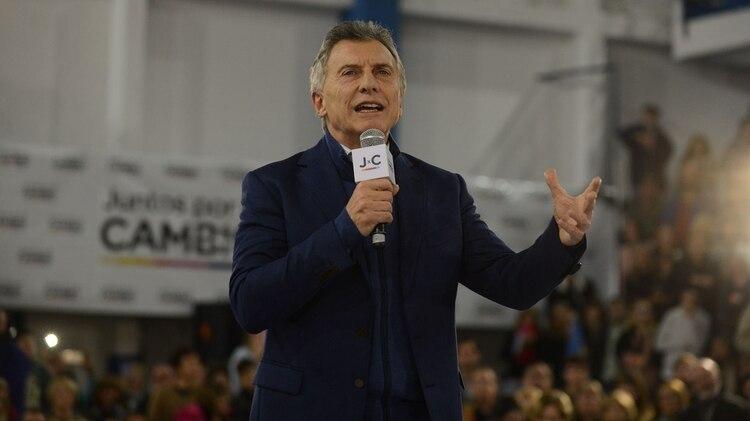Macri estuvo de cierre de campaña de primarias en Rosario el 5 de agosto.