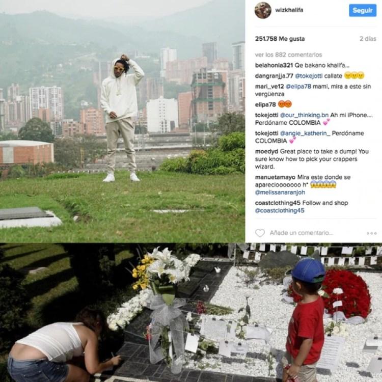 Miles de turistas llegan a Medellín cada mes para visitar la tumba de Pablo Escobar. Entre ellos, el rapero estadounidense Wiz Khalifa, quién el pasado marzo generó controversia al compartir una fotografía desde dicho sitio