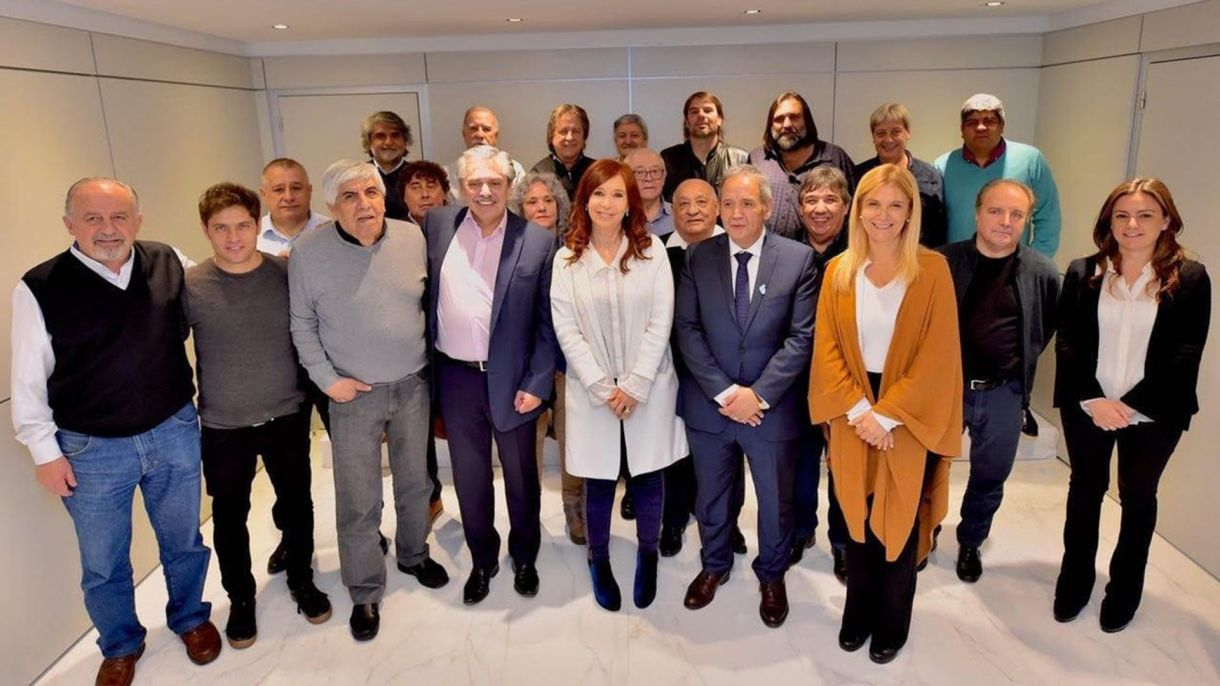 Cristina, Alberto, Kicillof y Magario, en tertulia con sindicalistas. Massa no fue invitado, y tampoco pensaba ir