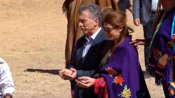 Macri y Awada en el homenaje a la Pachamama, en la puna jujeña.