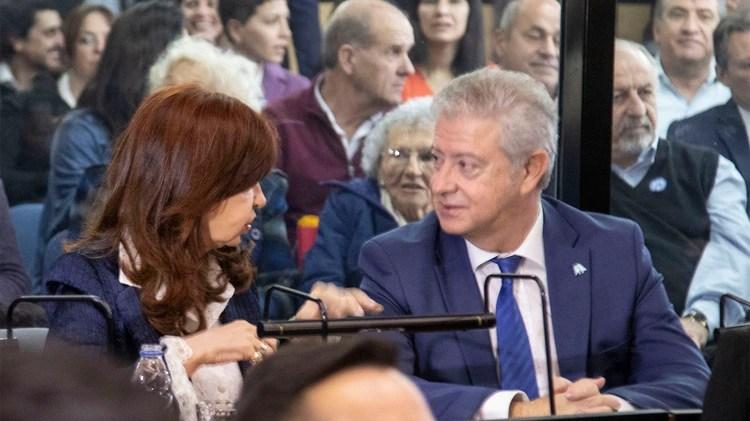 Cristina y su abogado, Carlos Beraldi (foto NA: JUAN VARGAS)