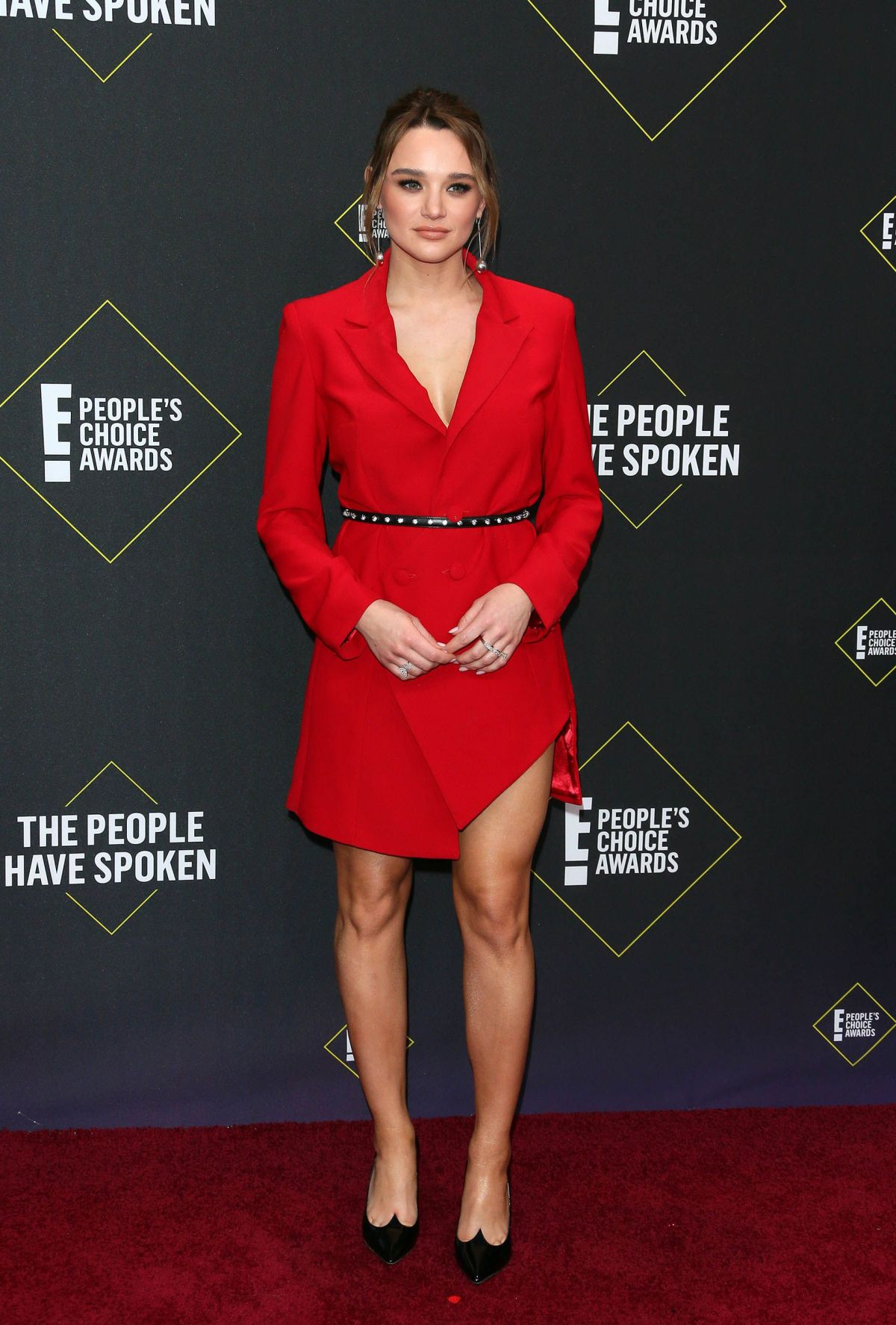 US actress Hunter King arrives for the 45th annual E! People's Choice Awards at Barker Hangar in Santa Monica, California, on November 10, 2019. (Photo by Jean-Baptiste Lacroix / AFP)