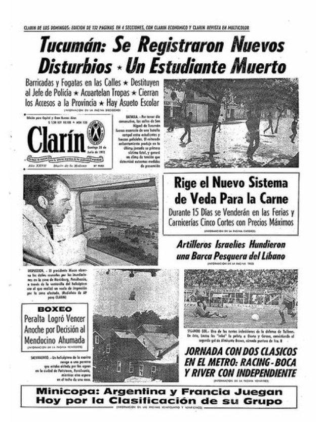 El Tucumanazo en la tapa de los diarios