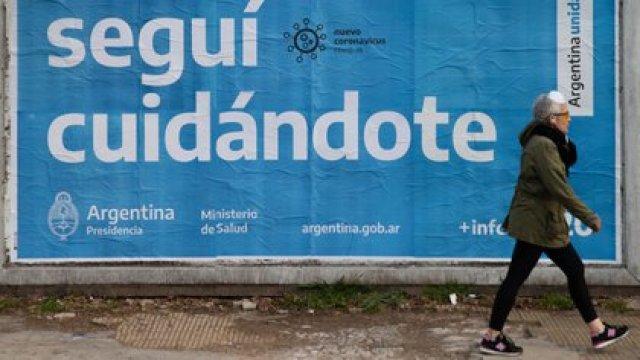 Postal de la cuarentena obligatoria que rige desde el 20 de marzo en la Argentina (Foto: Franco Fafasuli)