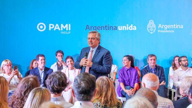 El presidente Alberto Fernández, durante un acto en Quilmes