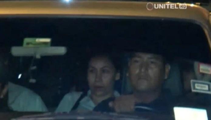 Vallejos, tras entregarse a las autoridades (foto: captura de Unitel)