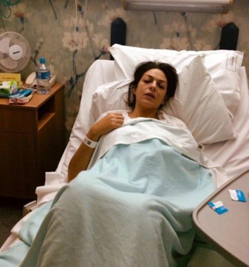 La foto que acompañaba la campaña en GoFundMe era de una cirugía que le realizaron en 2017 y no tenía que ver en nada con el cáncer. Foto tomada de Twitter.