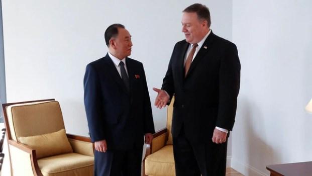 Pompeo se reunió con el vicepresidente de Corea del Norte en Nueva York el miércoles y el jueves (Reuters)