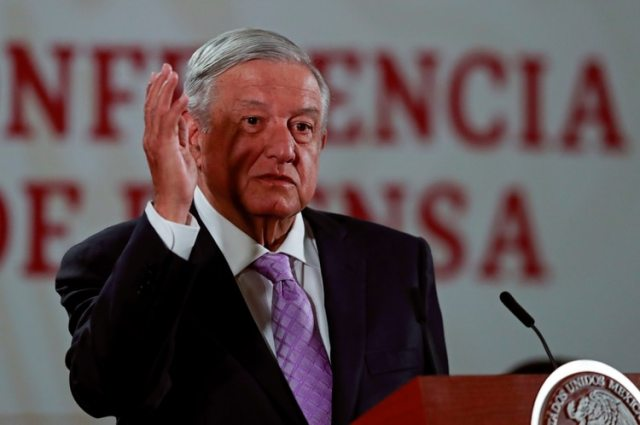 Mexico's President Andres Manuel Lopez Obrador speaks during a news conference at the National Palace in Mexico City, Mexico February 18, 2020. REUTERS/Henry Romero
