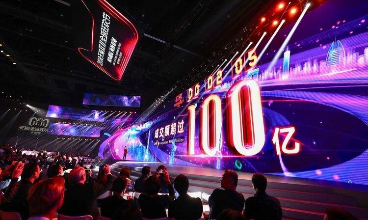 """Las ventas por el """"Día del Soltero"""" en China constituyen la jornada más importante del año para Alibaba (AFP)"""