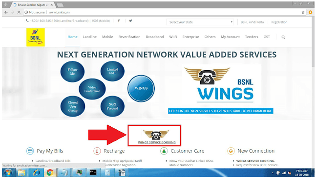 activate bsnl wings