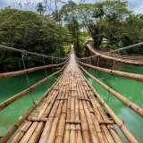 Crossing The Breathtaking Tigbao Hanging Bridge Bohol Philippines 0002