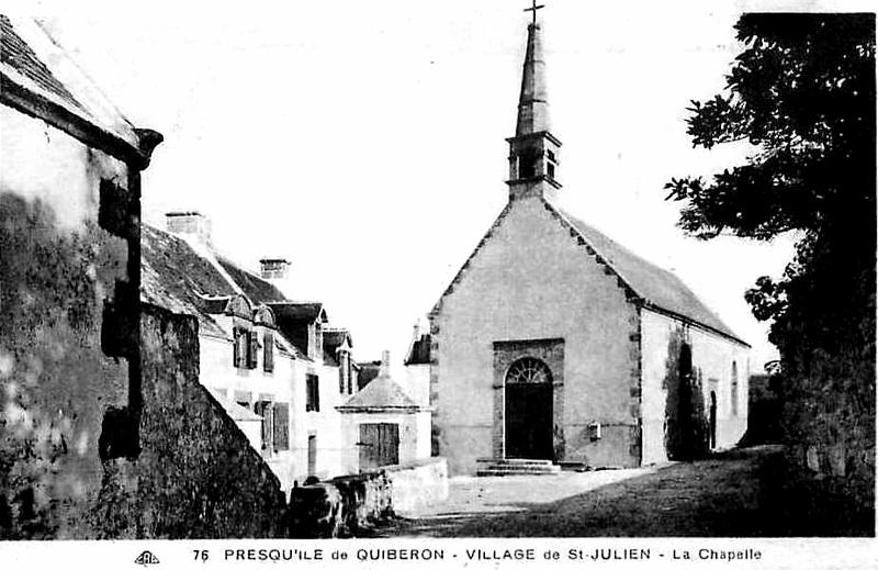 Ville de Quiberon (Bretagne) : chapelle de Saint-Julien.