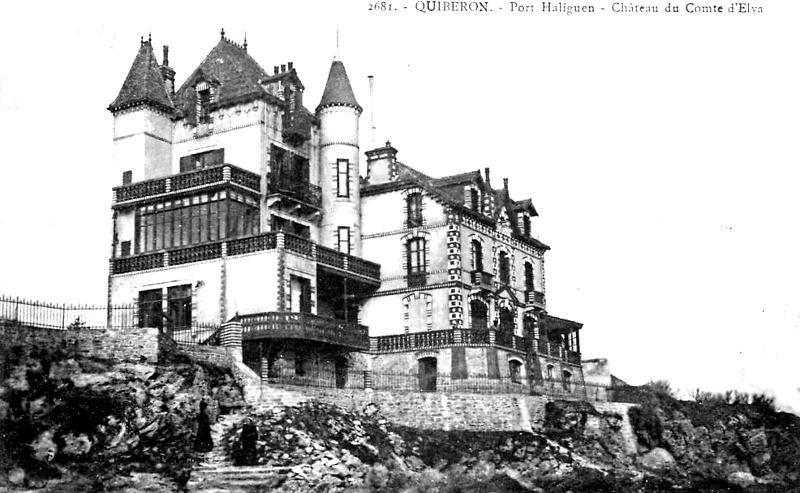 Ville de Quiberon (Bretagne) : château.