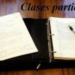 Consejos para organizar clases particulares