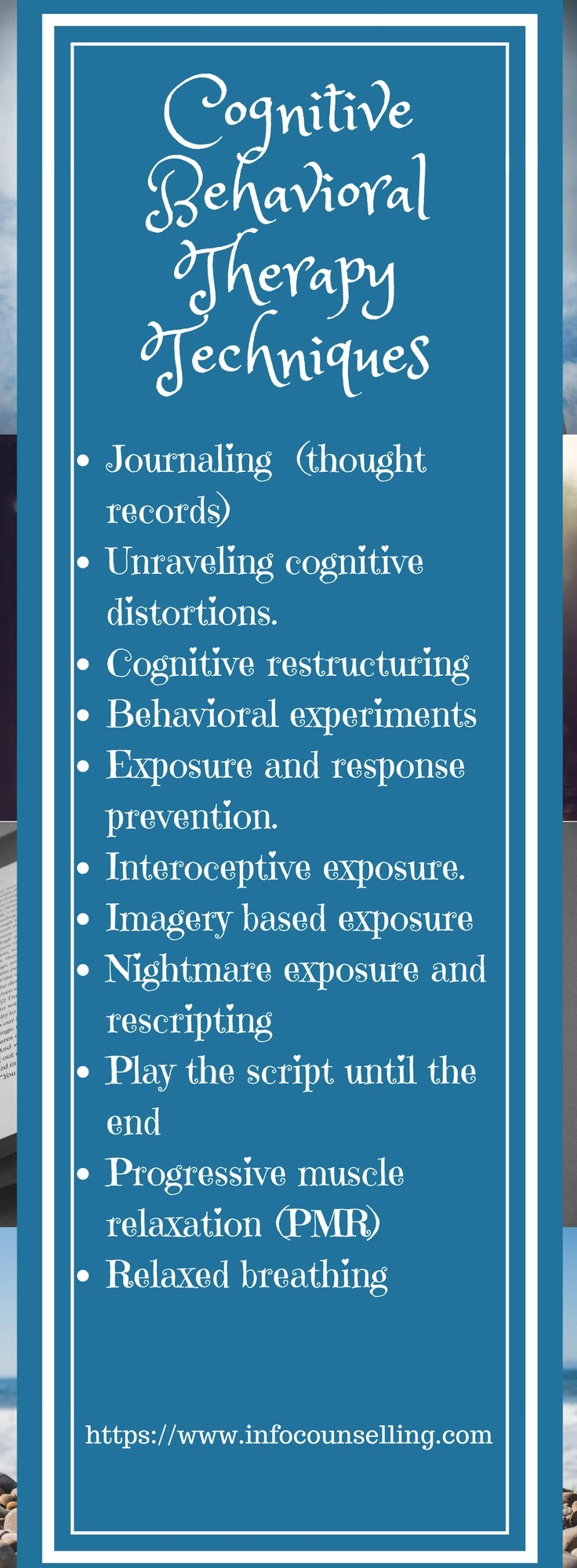 the complete list of cognitive behavioral therapy  cbt