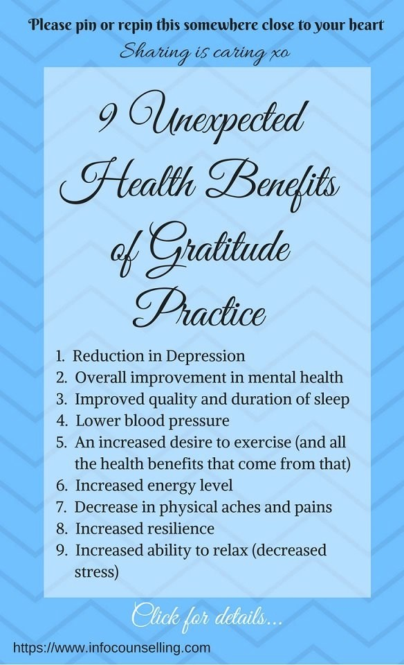 health benefits of gratitude