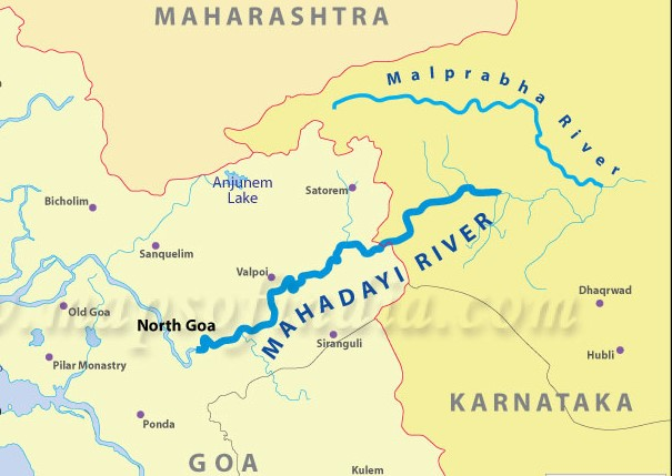 mahadayi-river-map