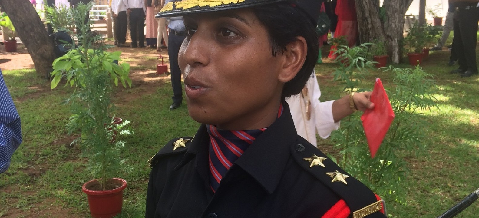 Lieutenant Nidhi Mishra who passed out from Officers Training Academy on last Saturday