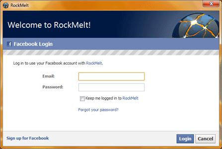 RockMelt integra-se ao Facebook