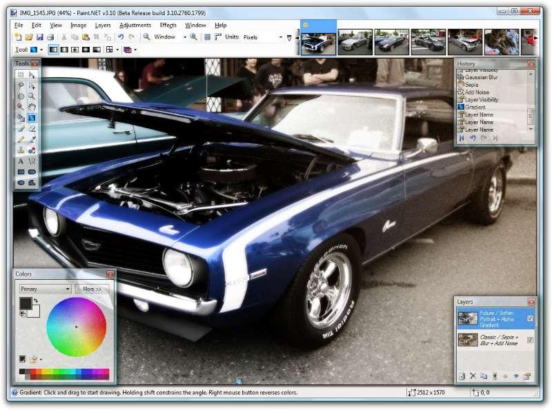 Paint.net – Praticamente um Photoshop gratuito