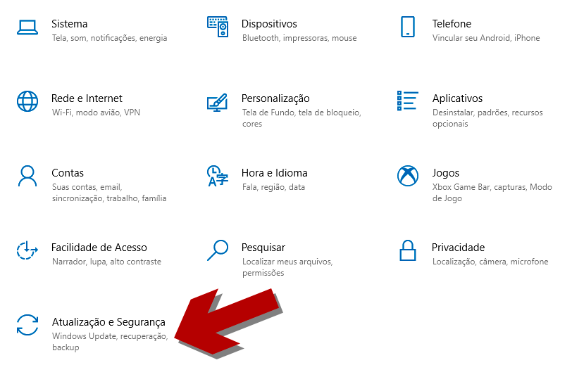 Configurações do Windows 10