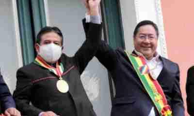 Presidente Luis Arce y David Choquehuanca