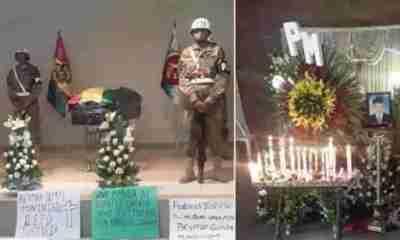 Muerte del soldado en Santa Cruz