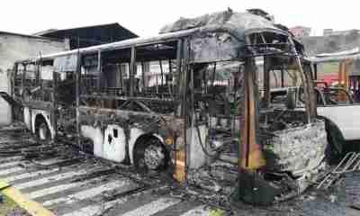 Quema de buses