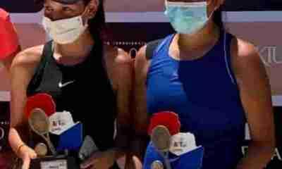 Tenistas bolivianas Dayanara Velasco y Flavia Villegas