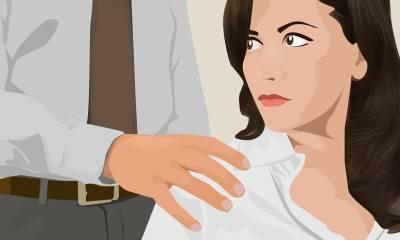 Mujer acosada