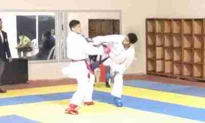 Nicolás Barron karateca Boliviano