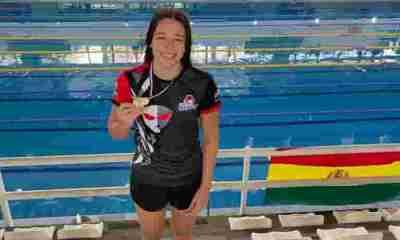 Nadadores bolivianos ganan medalla de oro en Paraguay