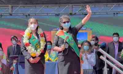 invitados de Eva Copa en Tiwanaku
