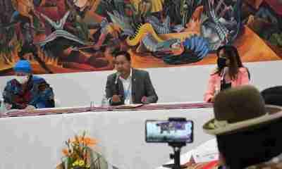 Luis Arce en conferencia de prensa