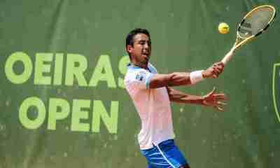 Tenista Hugo Dellien en Wimbledon