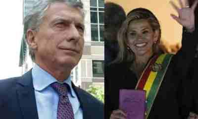 Macri apoyó golpe de estado en Bolivia