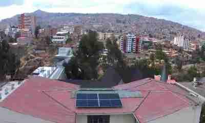 Paneles solares en Bolivia