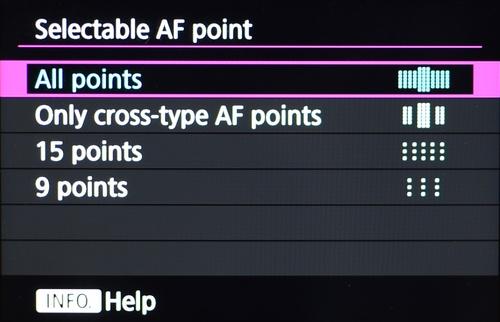 Bila 61 titik AF dirasa terlalu banyak, ada pilihan titik lain yang lebih sedikit