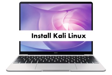 Install Kali Linux on Huawei MateBook 13