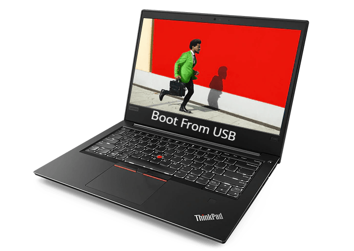 Lenovo ThinkPad E480 Boot From USB for Linux and Windows