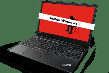 install windows 7 on Lenovo ThinkPad E480