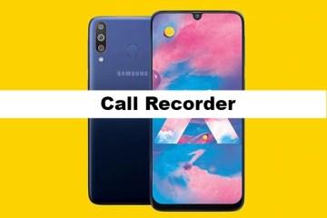 Samsung Galaxy M30Call Recorder