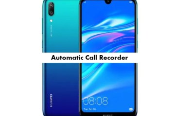 Huawei Y7 Pro 2019 call recorder