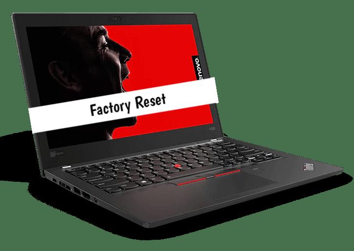 How to Factory Reset Lenovo ThinkPad X280 - infofuge