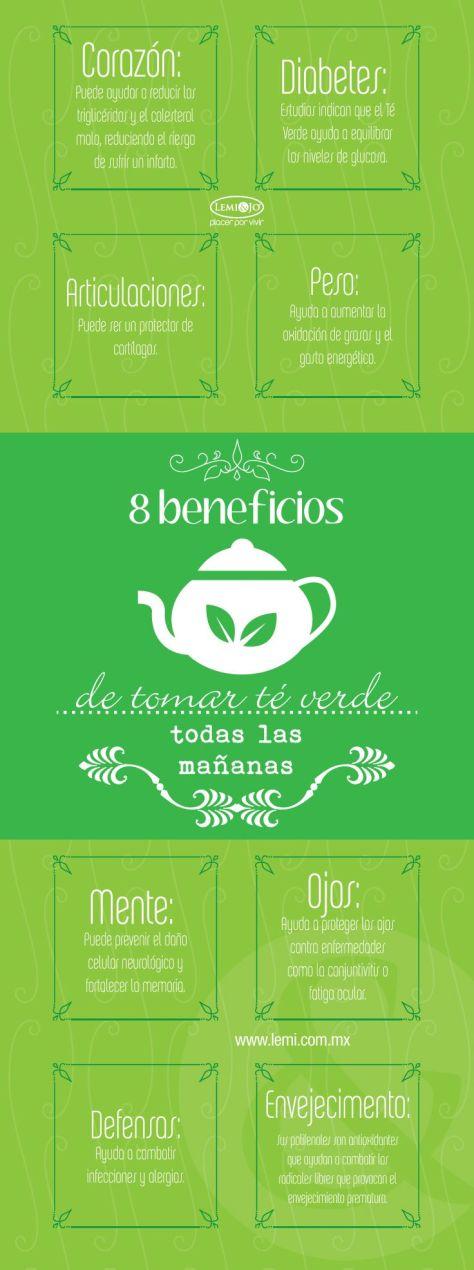 beneficios de tomar té verde