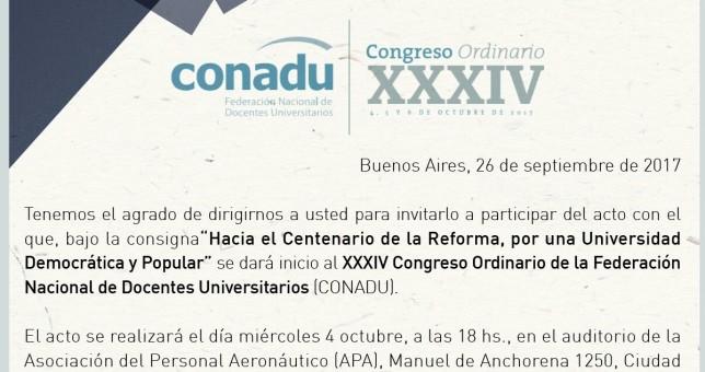 Congreso de la CONADU con fuerte impronta política