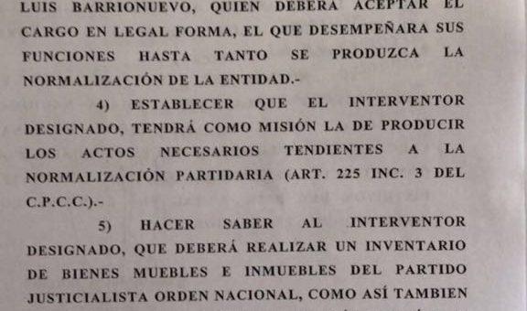 Aislado en la CGT, la justicia nombra a Luis Barrionuevo interventor del PJ Nacional