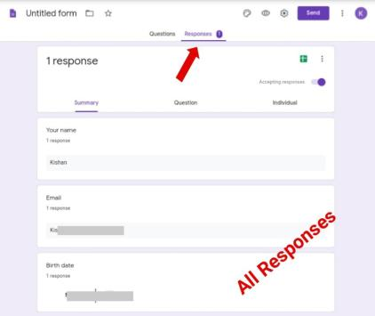 how to check google form responses